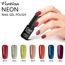 Verntion Professionale Bling Glitter Colorful Neon Nail Gel Soak Off UV Gel Nail Polish Lucky Long-lasting Nail Art Gel Lacquer(China)