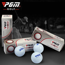 PGM Golf Balls 3PCS Two Piece Ball SUYLYN High Bombs Rubber Free Shipping Distance Golf Ball Distance Bolas Golf Accessories(China)