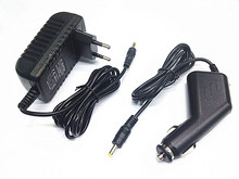 Car Charger+AC/DC Power Adapter for Philips PET706 PD9000 37 Portable DVD Player
