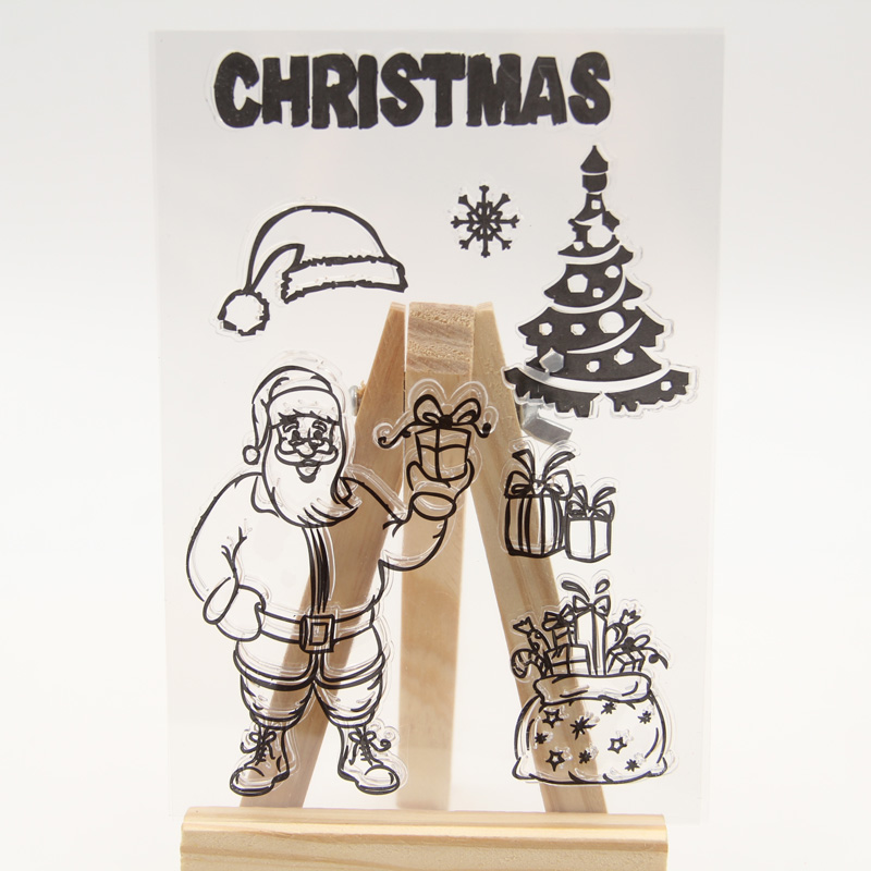 1 sheet DIY Christmas Santa Claus gifts Design Clear Silicone Stamp for DIY scrapbooking/photo album Decorative craft<br><br>Aliexpress