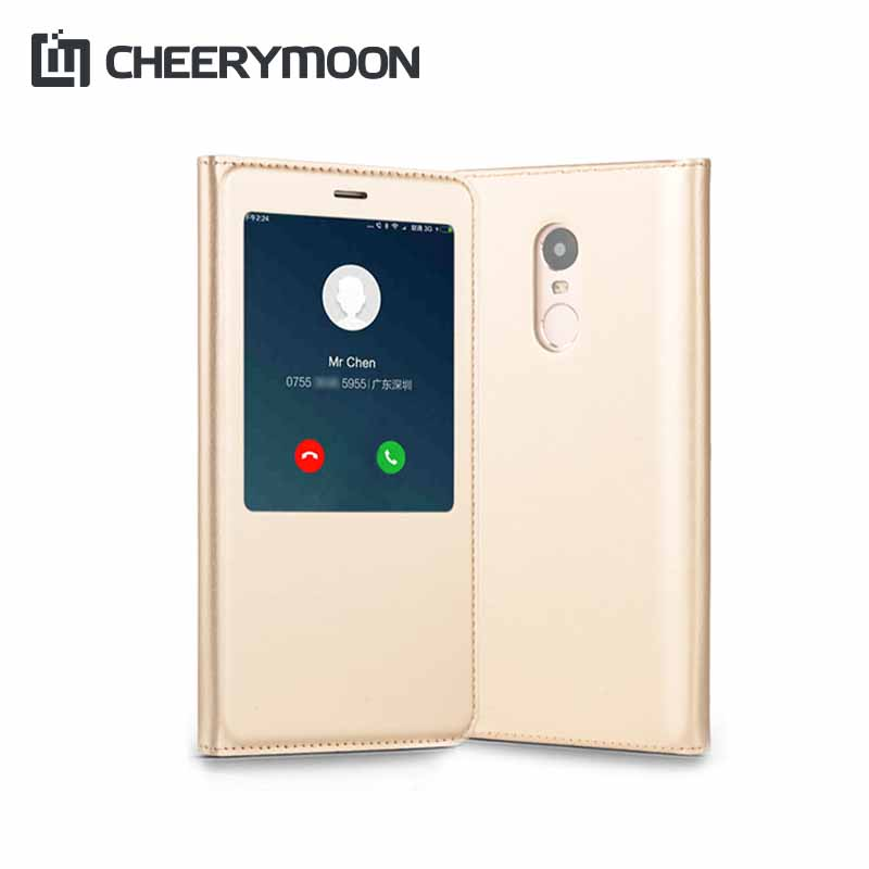 CHEERYMOON Smart Case Cover For Xiaomi Mi Max 2 Max2 Redmi Pro Note 4 4X Case Back Flip Leather Ultra Thin Wallet Window  Capa