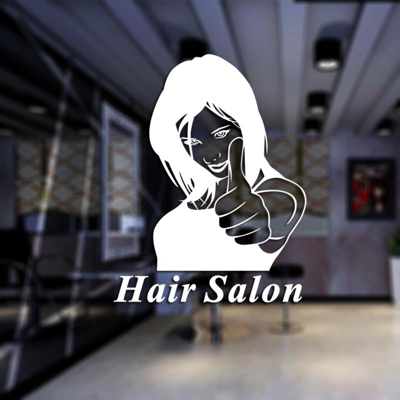 Hair Salon Sticker Beauty Decal Haircut Name Posters Time Hour Vinyl Wall Art Decals Decor Decoration Mural Salon Sticker M0031