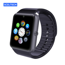 SCELTECH Smart Watch GT08 Clock Sync Notifier support SIM TF Card Connectivity iphone Android Phone Smartwatch PK dz09 u8 gv18