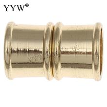 10pcs/lot 19x12mm magnetic clasps for leather bracelet findings /gold color platedmagnet closure