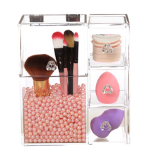 Acrylic Makeup Brush Holder Dustproof Makeup Storage Box Premium Quality Clear Acrylic Organizer Box for Storage Brush Pencil