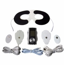 Dual-Channel 8Mode Electri Body Massager Slimming TENS Acupuncture Machine+1Pc Eye Mask Conductive Electrode Pad