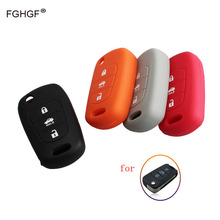 FGHGF Silicone Key Cover Case For HYUNDAI i30 Verna Veloster for KIA K2 K5 Picanto Rio Sportage Car Key