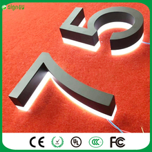 Stainless Steel Solar Led Lamp Door Plate Lamp With House Number&Letters Outdoor Billboard Night Light
