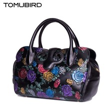 TOMUBIRD 2016 New genuine leather women bag fashion painted embossing quality leather art bag women leather handbag shoulder bag