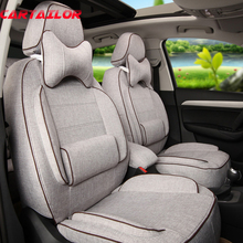CARTAILOR Car Seat Protector Custom Fit for Honda CRV 2016 Seat Cover Set Linen Automobile Seat Covers & Supports Accessories(China)