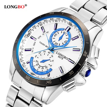 LONGBO Brand Fashion Sports Army Watches Men Stainless Steel Watch Business Style Military Waterproof Quartz Wristwatches 8978