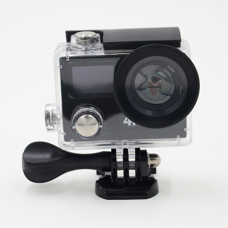 EK EN H8R 4K WiFi Action camera 1080p full HD 2.0 LCD Dual Screen Helmet Cam  2.4G remote control go pro style sports camera<br><br>Aliexpress