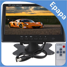 2pcs/lot HD 800 x 480 Super Thin 7 Inch Car monitor Color TFT LCD 2 Channels Video Input Car Rear View Monitor