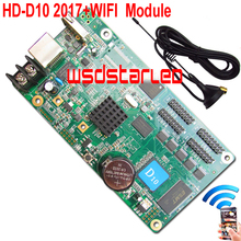 HD HD-D10+WIFI Module 2017 New LED controller lintel display 4*HUB75 USB asynchronous full color LED control card D10