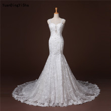 Buy Real Picture Lace Mermaid Wedding Dress 2017 Sweetheart Backless Vestido De Novia Pearls Sexy Chapel Train Bridal Gown Dresses for $227.00 in AliExpress store