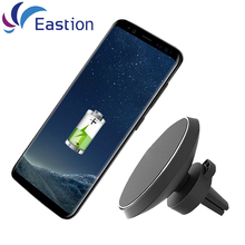 Wireless Car Charger Magnetic Holder for Samsung Galaxy S6 S7 S8 Edge Plus iPhone Receiver Adapter Air Vent Stand Charging