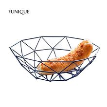 FUNIQUE Snack Storage Plate Iron Tray Moder Style Storage Holder Home Decoration New Year Chrismas Kitchen Tools Accessories(China)