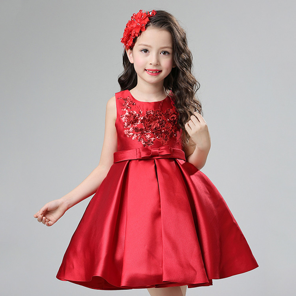 Vinnytido Princess Dress Children Flower Girls Dress Bow Champagne Wedding Pageant Party Dresses<br>