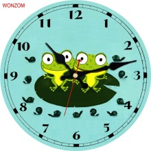 Cartoon Design Wall Clock Silent relogio de parede For Children Room Wall Decor Elephant Saat Watch Gift orologio da parete