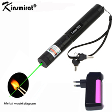 Green Laser Sight CNC Lasers Pointer Powerful device 10000m Adjustable Focus Lazer with Star Cap+Charger+18650 Battery