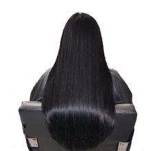DLME Silky Straight Heat Resistant Fiber Synthetic Hair Lace Front Wigs Glueless With Baby Hair Around Bleached Knots(China)