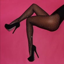 2017 New Spring Summer Style Sexy Mesh Fishnet Pantyhose Black Slim Fishnet Tights Party Club Bandage Hosiery Bling Crystal