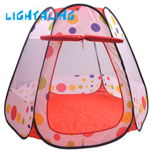 Lightaling Kids Play Tent Large Portable Foldable Children Pop Up Adventure Ocean Ball Baby Indoor Outdoor Playhouse Toy