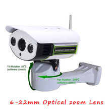 1080P PTZ IP Camera 6-22mm Optical Zoom lens HD 1080P Pan/Tilt/Zoom IP Camera Wireless Wifi SDCard Slot  2MP IP Camera Outdoor