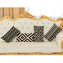 2017 Factory direct sales pillow cover wholesale wedding party gift cushion cover  Sawtooth rhombic simple waist  pillow case