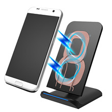 Besegad Fast Qi Wireless Charger Charging Pad Mat Stand Holder for Samsung Galaxy S6 Edge Edge Note S7 S8 S8 HTC Droid DNA(China)