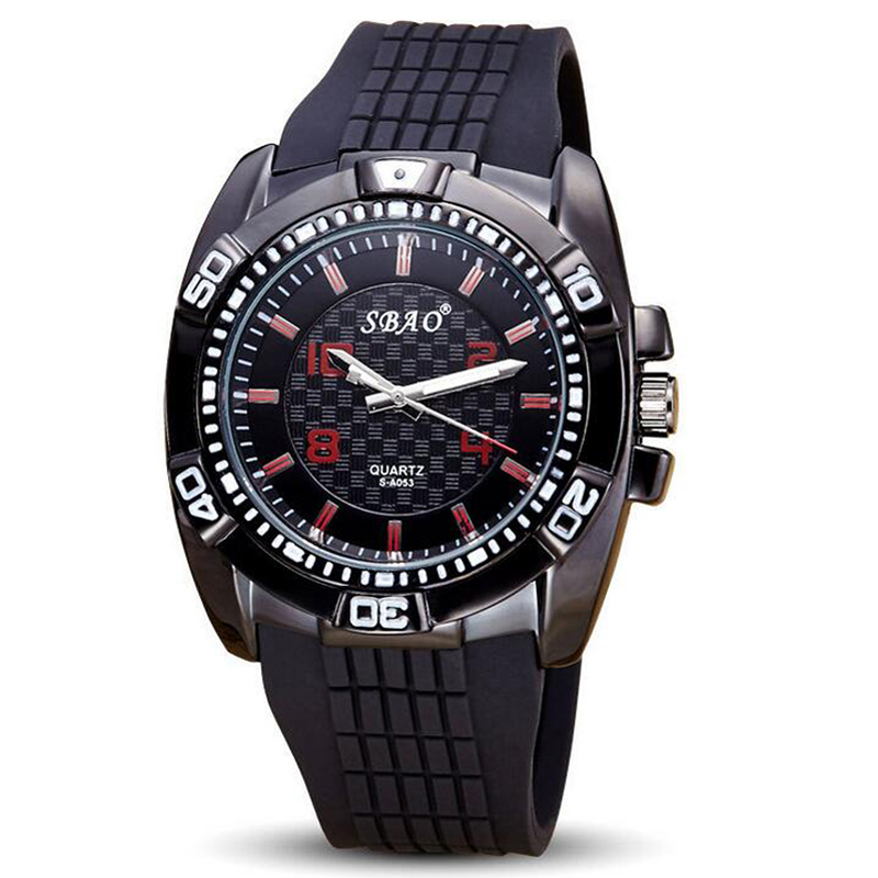 Men Quartz-Watch Top Brand Luxury Alloy Case Silicone Strap Quartz Analog Watch Male Wristwatches Man Sports Watch<br><br>Aliexpress