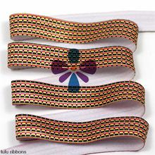 "5/8"" 16mm 10 Yards Geometric Stretched Ribbon Stripe Printed Elastic Ribbon Knot Hair Tie Making HT01-PG038-03851"