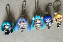 5pcs/set Keychain Hatsune Miku picture Frame Anime Collectible Action Figure PVC toys for christmas gift free shipping