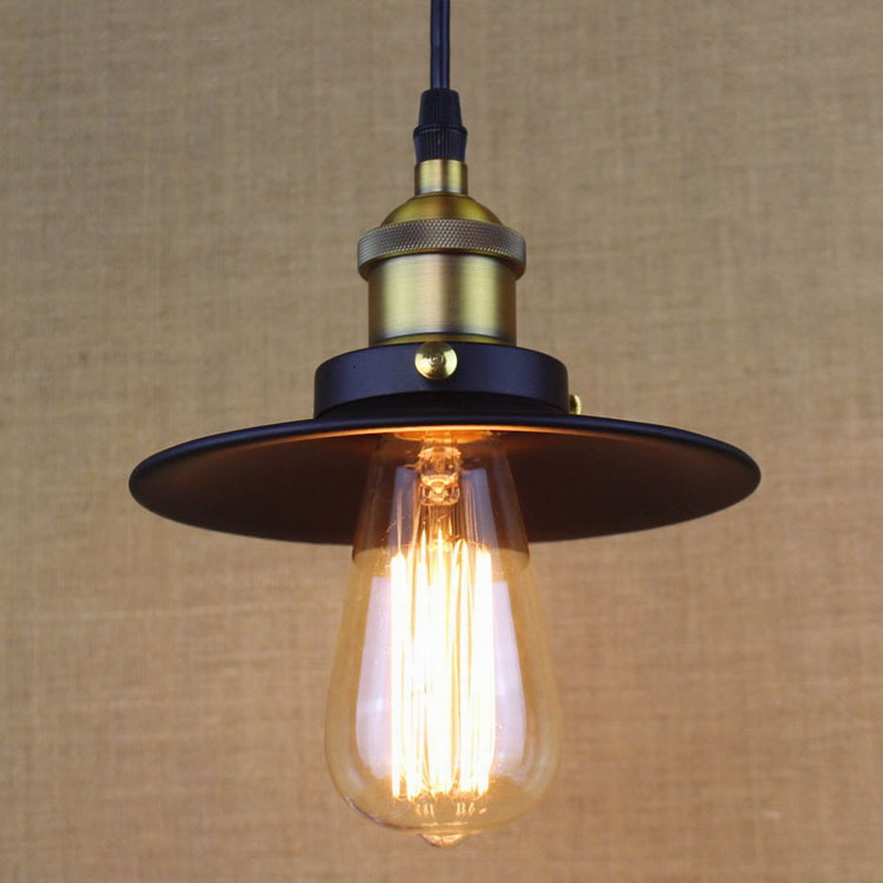 American vintage big loft screw-mount copper single head bar table pendant light kitchen room hanging lights fashion design<br><br>Aliexpress