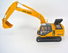 jing bang 1:50 excavator Children's toy car forklift alloy bulldozer excavator simulation model loading truck car(China)