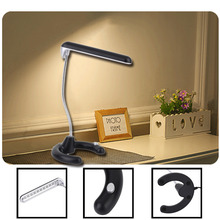 High Quality HK-3021 Mini LED Eye Protective Study Desk Lamp With Flexible Gooseneck Brightness Switch Table Lamp hot sale