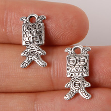 Sponge Baby Charms Pendant 9x18mm 12pcs Plated Silver Antique Zinc Alloy Jewelry Findings Fit Making Necklaces XL-61599