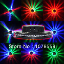 NEW LED Stage Lighting Voice-activated 48LEDs RGB Stage Light Lamp Disco Bar DJ Party Rotating Lighting Free Shipping