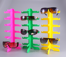 2pcs/slot Free shipping 6 Pair detachable Eyewear Spectacles Sunglasses display stand holder rack(China)