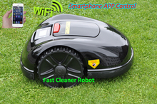 NEWEST GYROSCOPE Function Smartphone WIFI APP Robot Grass Mower,Grass Cutter Robot E1600 with Water-proofed charger(China)