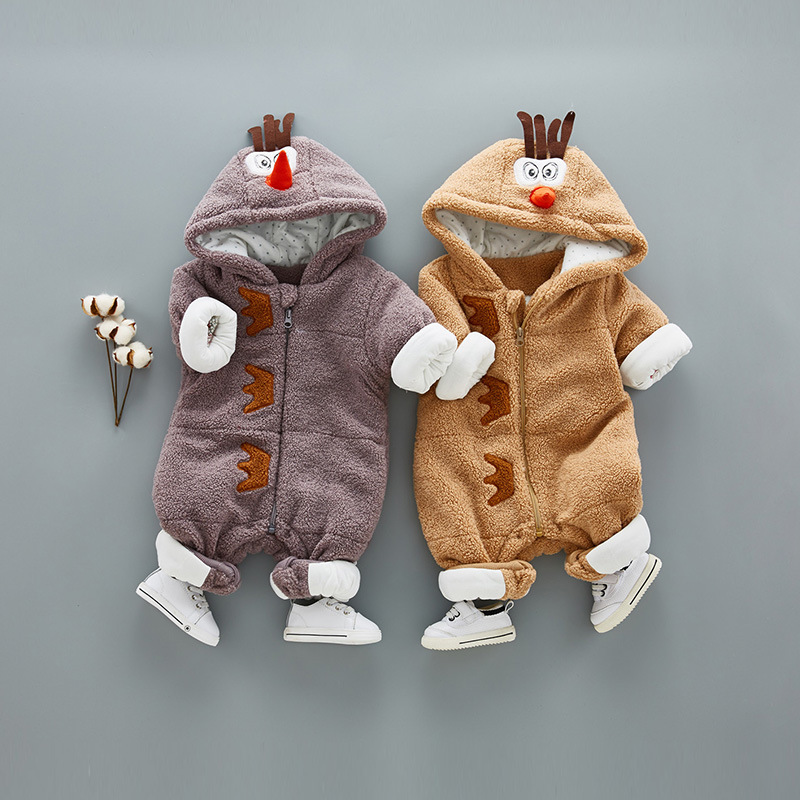 Winter Baby Clothes Fashion Thickening Warm Cotton Baby Cartoon Chicks Jumpsuit Infant Boy Girl Romper Coat<br>