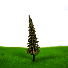 High quality 100pcs/lot  3cm ABS plastic  mini scale model trees for railroad model train layout
