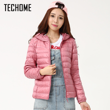 Autumn Winter Down Jackets For Women Brand Designer Hooded Coat Ultra Light Duck Down Jacket Womens Hoodes Warm Winter Coats(China)