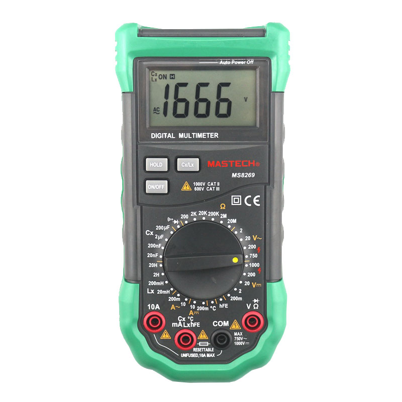 Mastech brand MS8269 3 1/2 Digital Multimeter LCR Meter AC/DC Voltage Current Resistance Capacitance Temperature Inductance Test<br>
