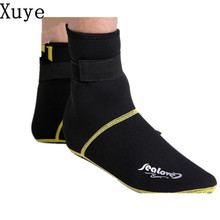 3MM Neoprene long Beach Socks Non-slip Antiskid Scuba Dive Boots Snorkeling Sock Flippers Wetsuit Seaside Shoes Swimming Fins
