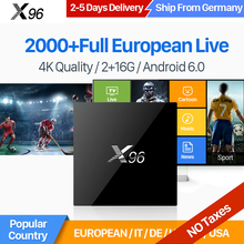 Buy IUDTV IPTV Europe Channels X96 Android 6.0 TV Box Smart 2GB 16GB Amlogic S905X Quad Core H.265 4K WiFi Swedish French IPTV Box for $92.51 in AliExpress store