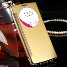 Buy KISSCASE Clear View Mirror Screen Flip Leather Case LG Optimus G5 G4 H815 H811 H810 VS986 LS991 Mobile Phone Cover Shells for $3.99 in AliExpress store
