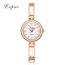 2017 LVPAI Brand Women Bracelet Watch China Alloy Quartz WristWatches Women Dress Watches Fashion Casual Luxury Watch Gift Clock(China)