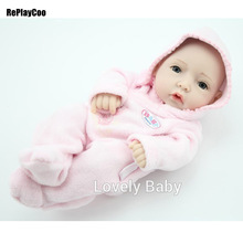 10'' Full Vinyl Buy Silicone Baby Reborn Dolls For Girls High Quality Reborns Dolls Babies Baby Kids Toys Cute Reborn Fashion(China)