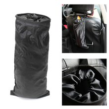 New Car Trash Can Bin Garbage 210D Oxford Black Seat Bags Waterproof Travel Storage Hanging Organizer Bag Stowing Tidying
